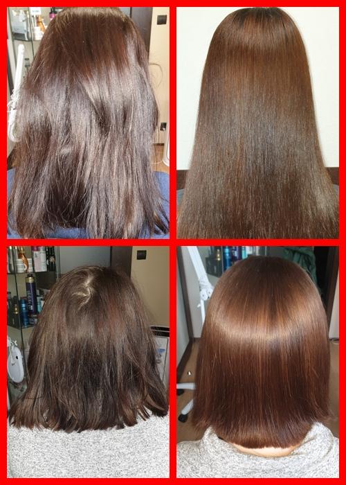 włosy przed i po nanoplasti